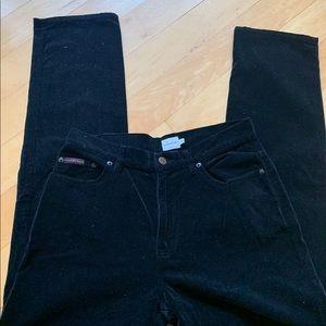 Calvin Klein black velvet jeans skinny fit